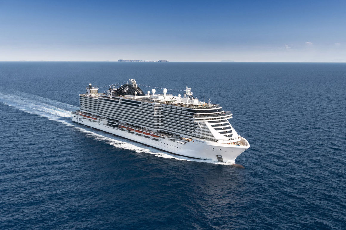 MSC Seaview auf See