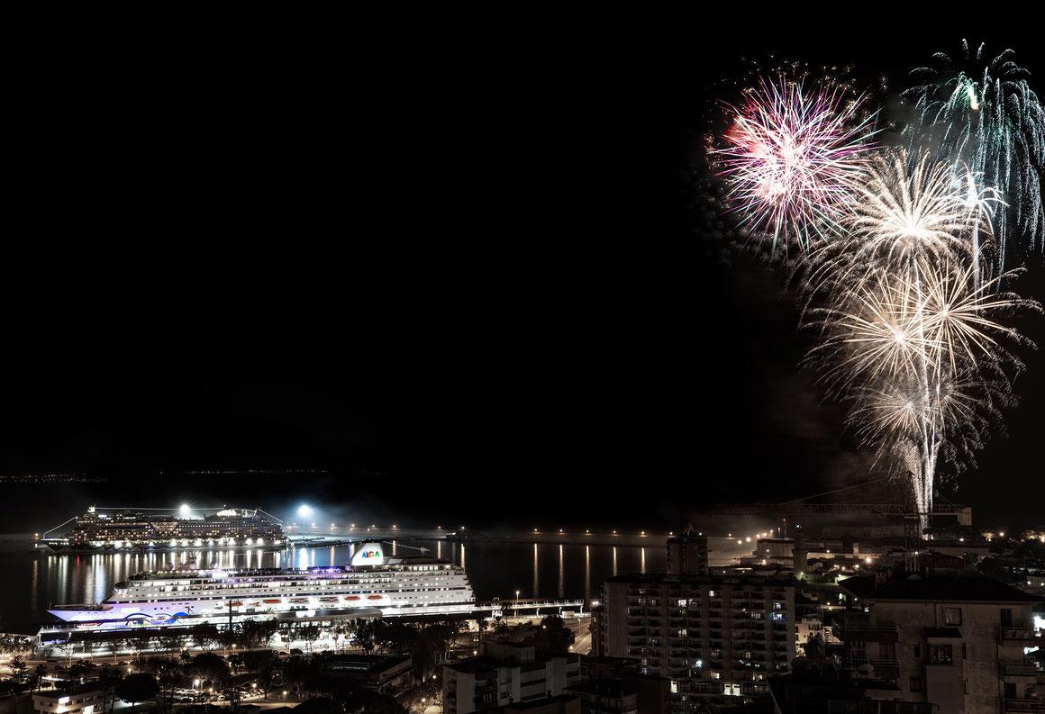 AIDAmira Taufe Feuerwerk