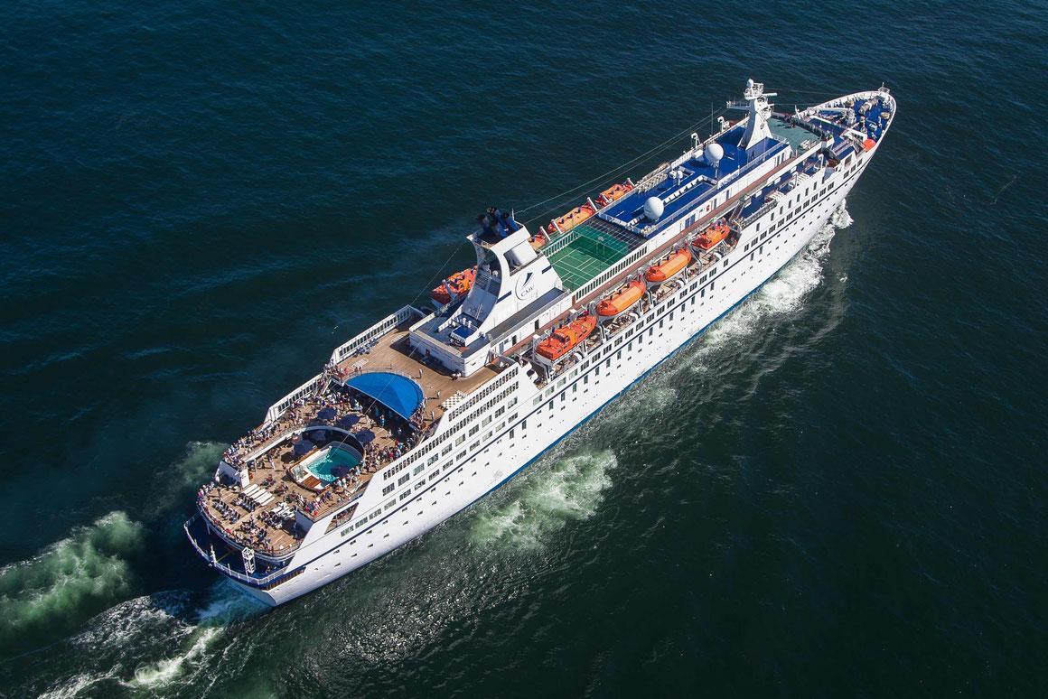 MS Astor auf See