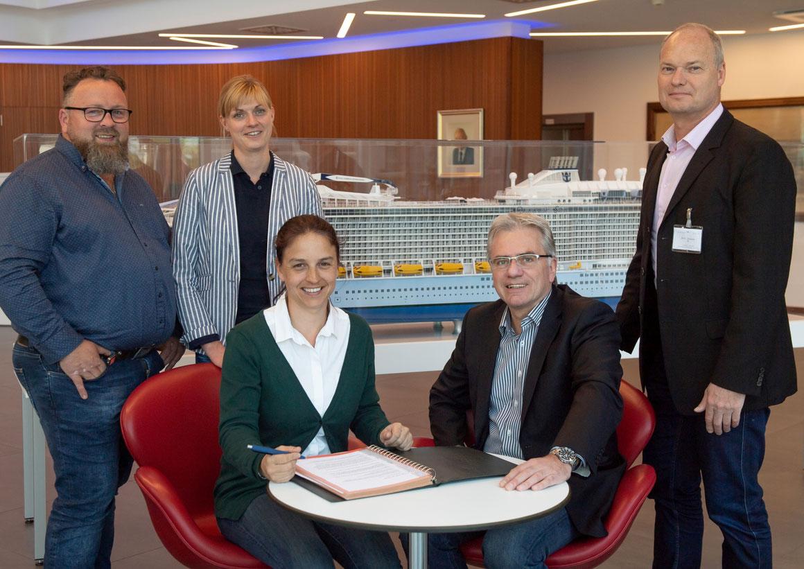 Neues Kooperationsabkommen zwischen der MEYER WERFT und der Techniker Krankenkasse |©David Hecker