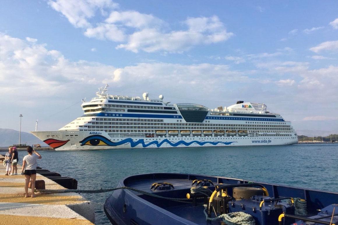 AIDAblu in Korfu