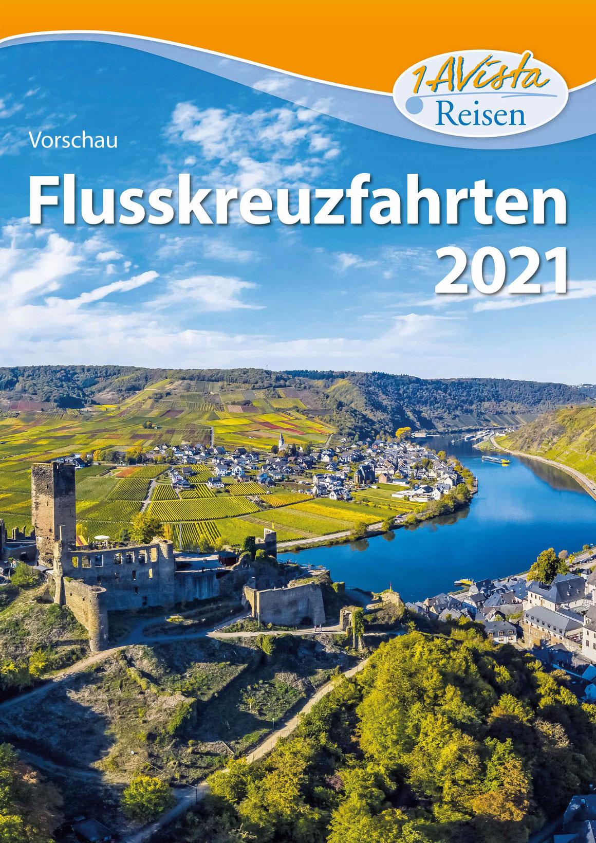 """Vorschaukatalog """"Flussreisen 2021"""" 1AVista Reisen"""