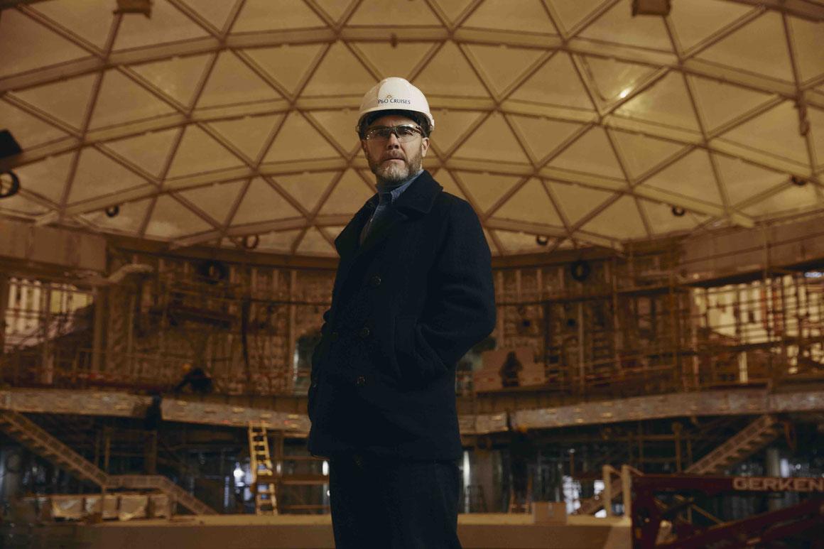 Gary Barlow aboard IONA
