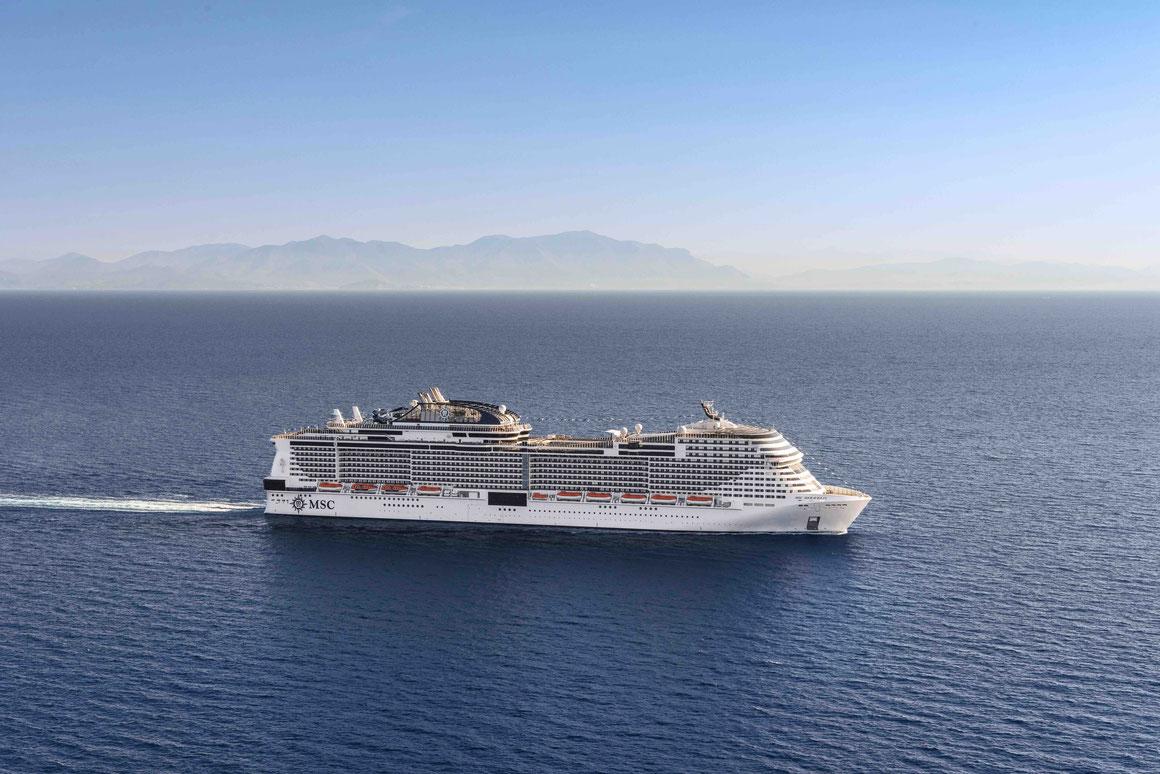 MSC Meraviglia auf See