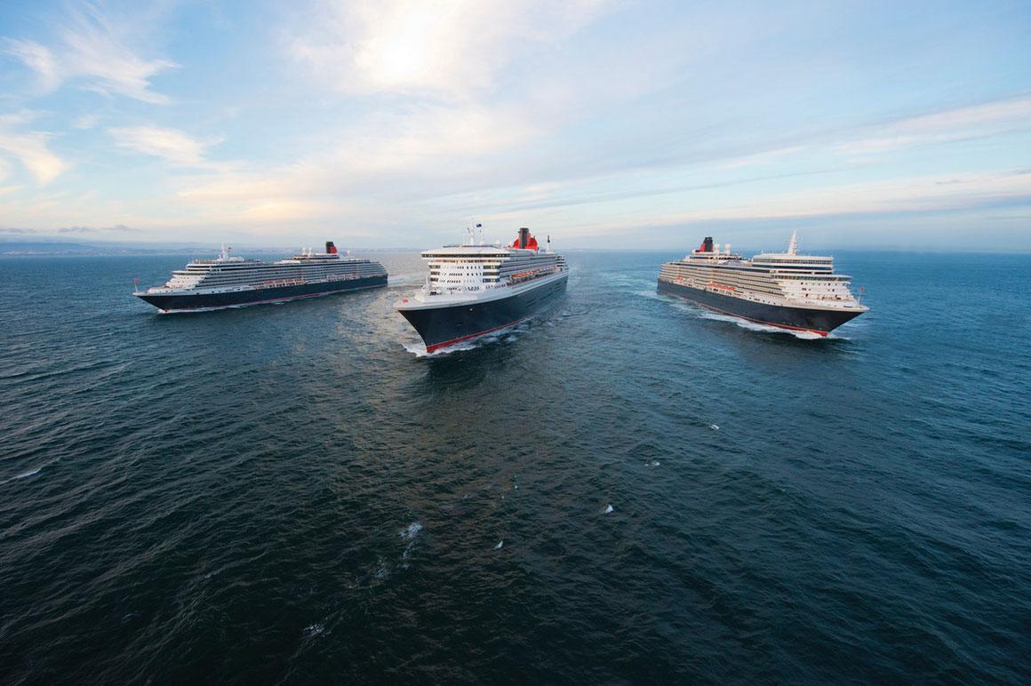 Cunard Line - die drei Queens