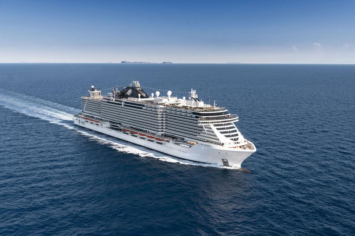 Mit der MSC Seaview über den Atlantik - bis nach Südamerika | ©MSC Kreuzfahrten