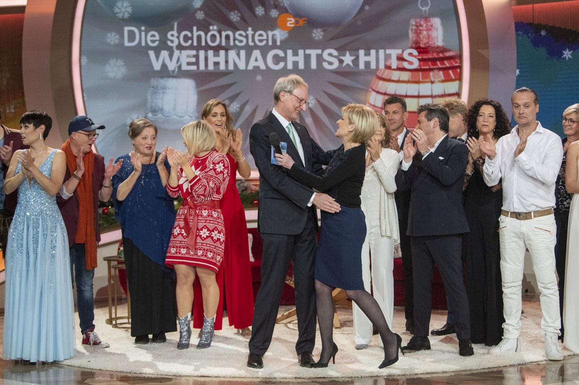 """Johannes Zurnieden und Carmen Nebel bei """"Die schönsten Weihnachtshits"""""""