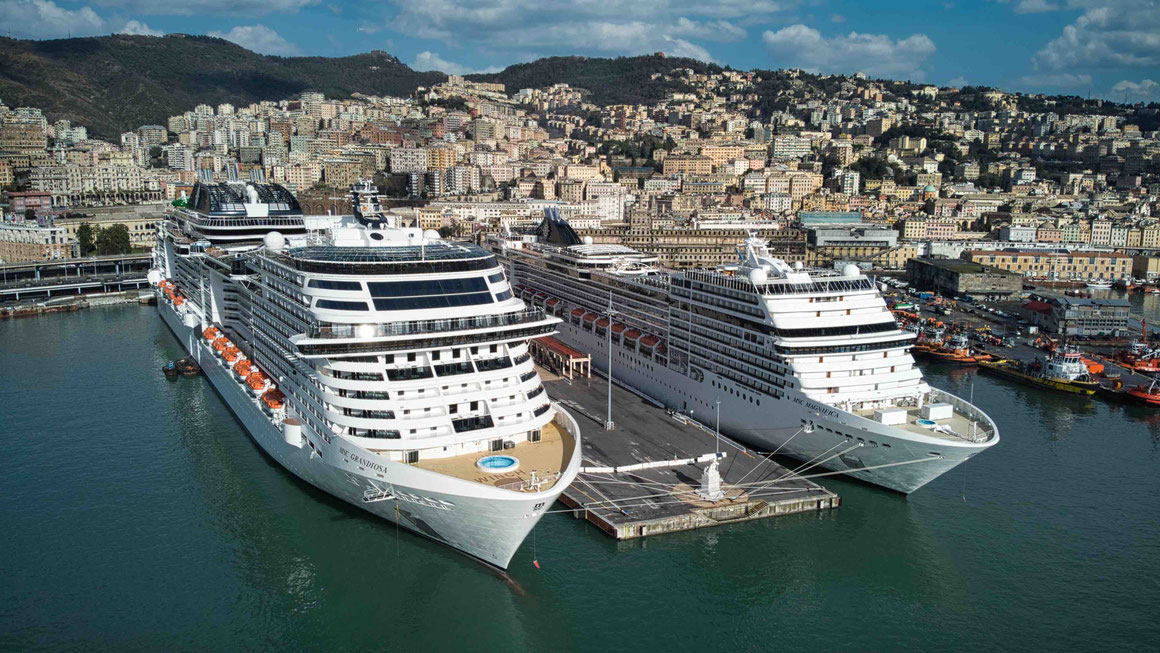 MSC Grandiosa in Genua