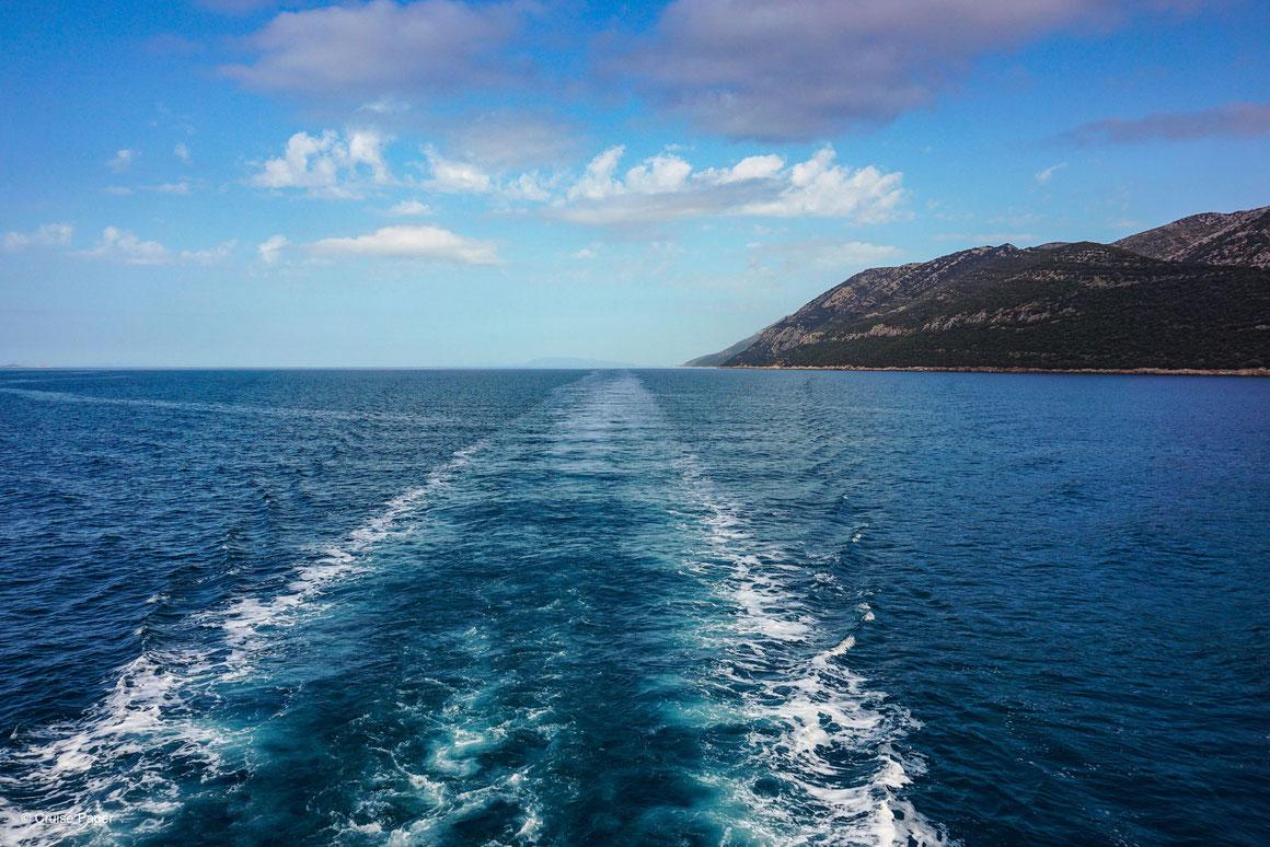 Kreuzfahrtschiff Heckwelle