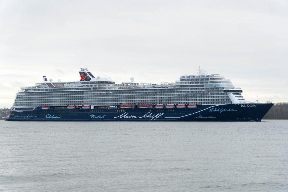Mein Schiff 2 Erstanlauf Kiel