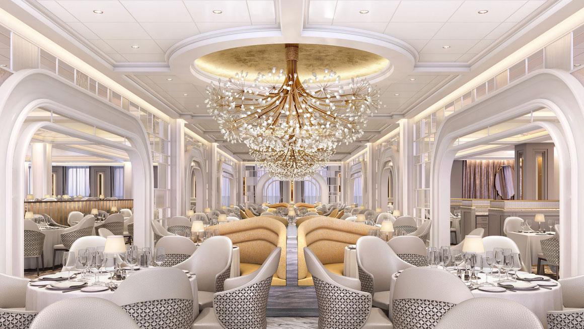 The Grand Dining Room Vista Oceania Cruises