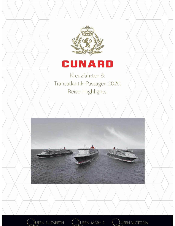 Neuer Cunard Katalog 2020 // © Cunard Line