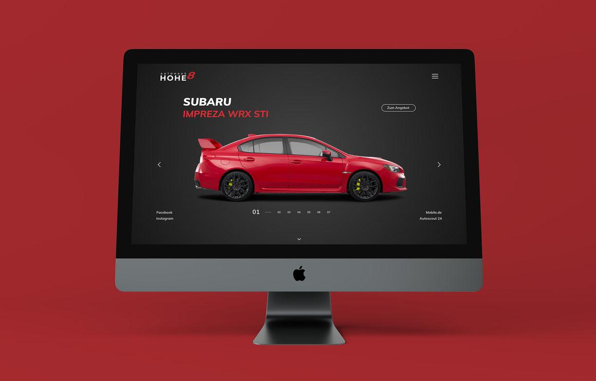 Autohaus Hohe 8 Website