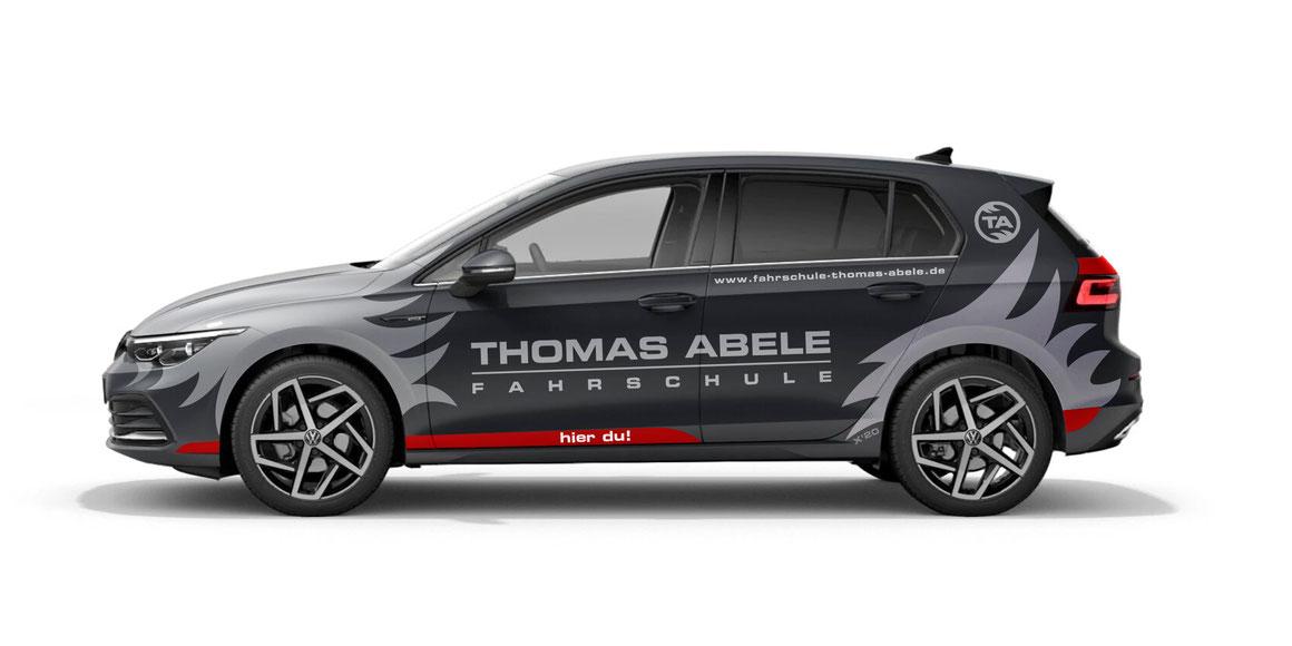 Fahrschule Thomas Abele Fahrzeugbeschriftung