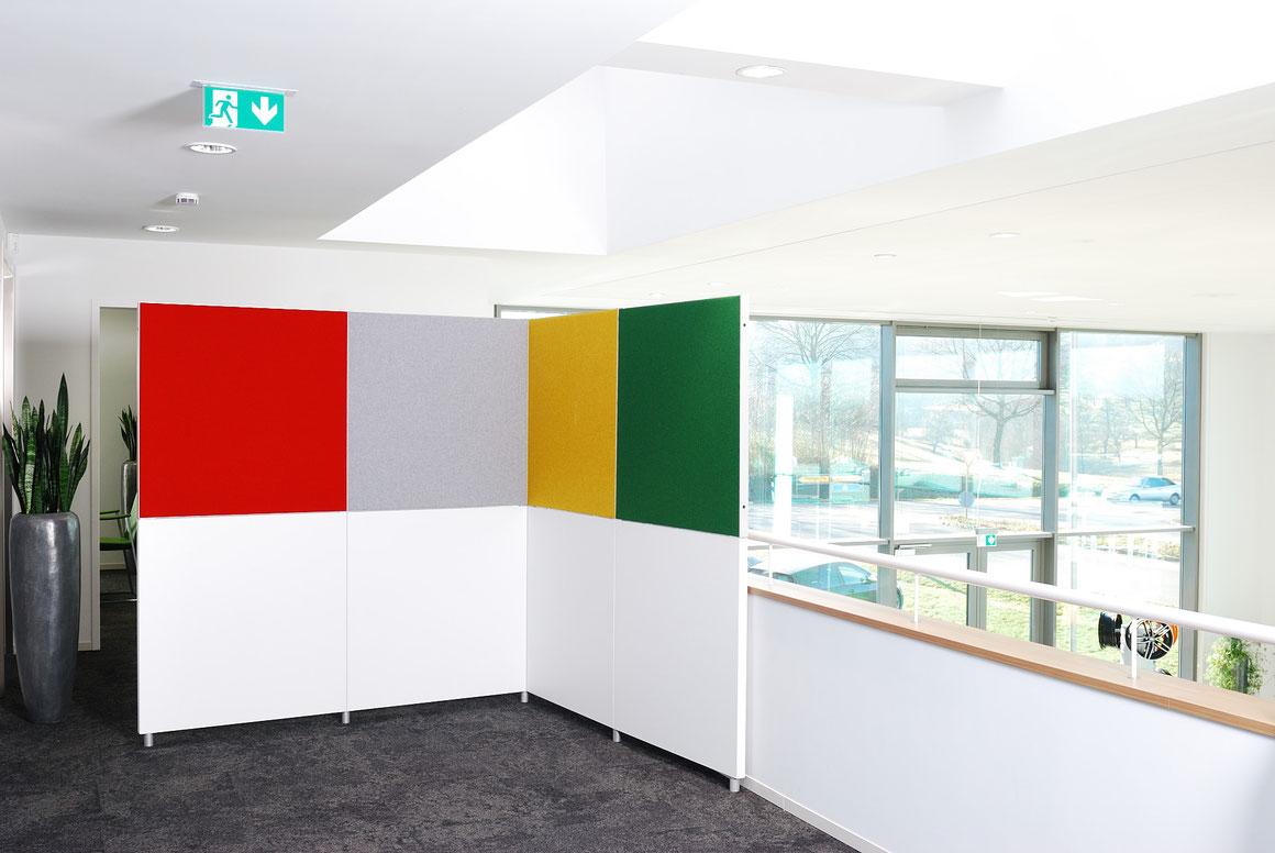 Wienss Innenausbau GmbH - Silenzio 4.0 von Leitex - akustisch wirksames modulares Trennwandsystem - Ansicht