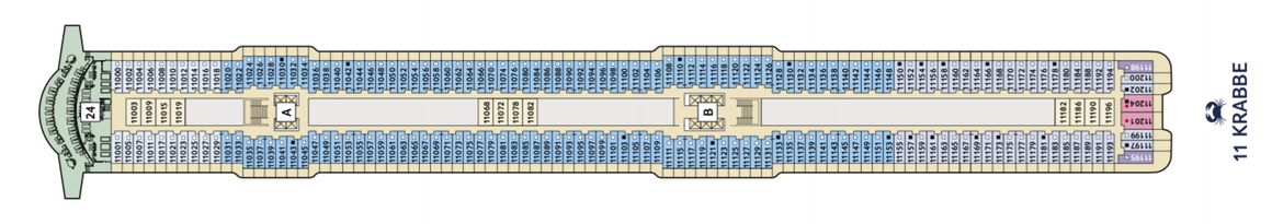Mein Schiff 2 Deck 11 | © TUI Cruises
