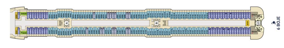 Mein Schiff 2 Deck 6 | © TUI Cruises