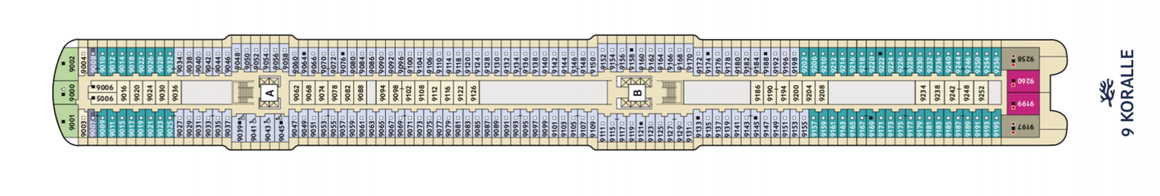 Mein Schiff 2 Deck 9 | © TUI Cruises