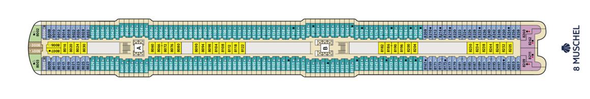 Mein Schiff 2 Deck 8 | © TUI Cruises