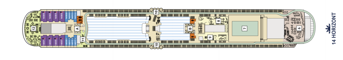 Mein Schiff 2 Deck 14 | © TUI Cruises