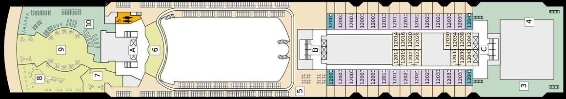 Mein Schiff Herz Deck 12 | © TUI Cruises