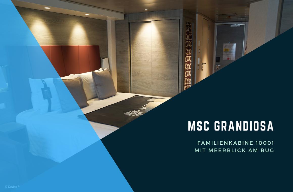 MSC Grandiosa Familienkabine 10001