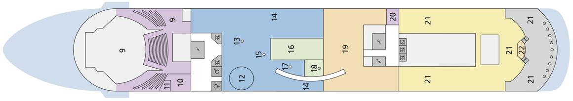 AIDAcara Deck 9