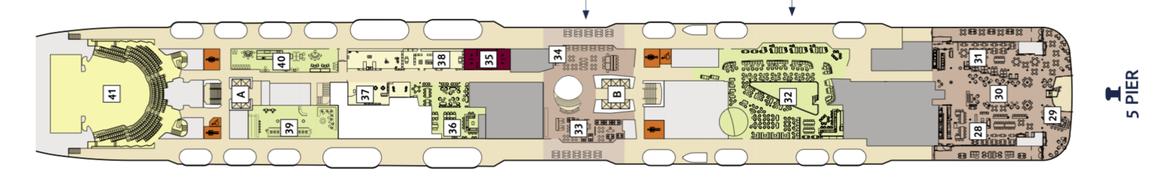 Mein Schiff 2 Deck 5 | © TUI Cruises