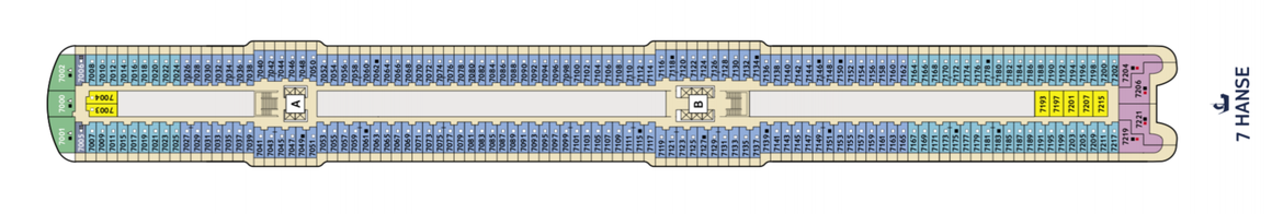 Mein Schiff 2 Deck 7 | © TUI Cruises