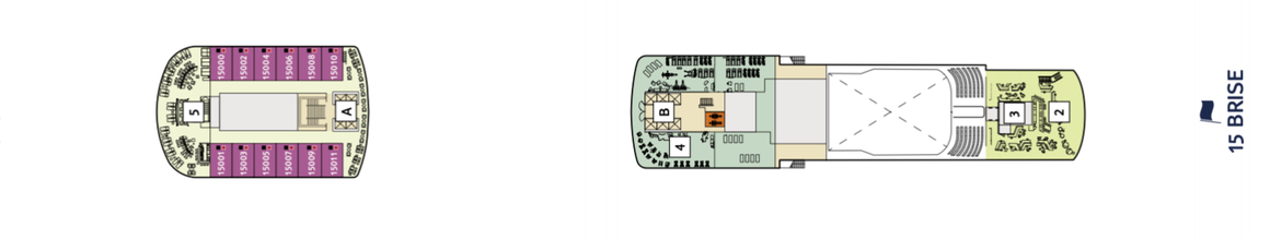 Mein Schiff 2 Deck 15 | © TUI Cruises