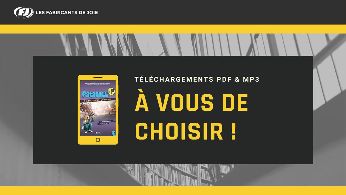 Bannière PDF à vous de choisir