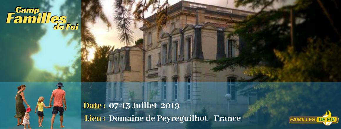 Families of faith training Camp 2019 France