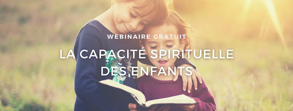 Webinaire la capacité spirituelle des enfants