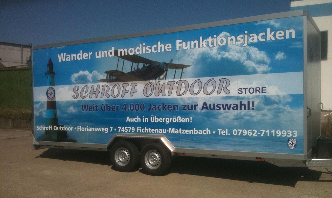 Trailer Werbung, LKW Beschriftung Transporter und Firmenbeschriftung, Teilbeklebung und Vollverklebung - Blickwerbung aus Crailsheim