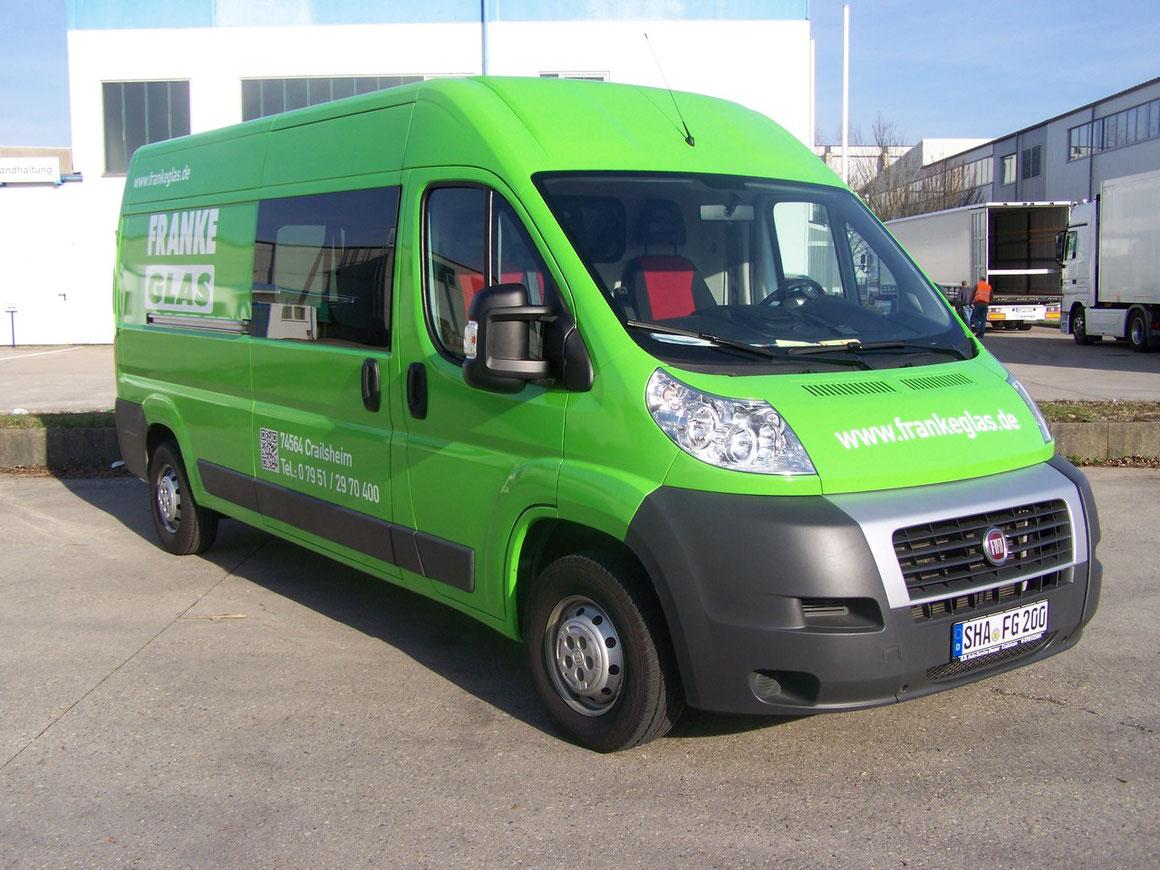 Fiat Ducato (Transporter Folierung, KFZ Folierung) - von weiß auf grün im Firmenlook