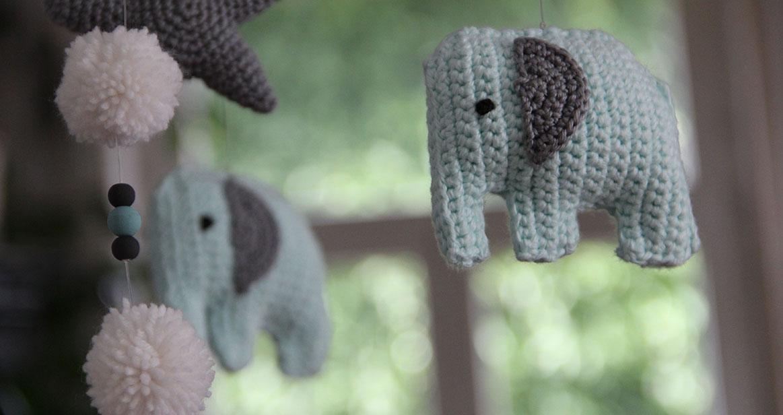 Mobilé Elefanten Zählen Swirly Blog über Diy Nähen Basteln