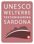 Logo UNESCO Welterbe Tektonikarena Sardona