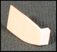 plaque de tête ivoire-fibre