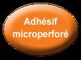 logo adhésif micro-perforé.