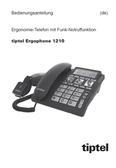 Titelbild Bedienungsanleitung: Tiptel Ergophone 1210