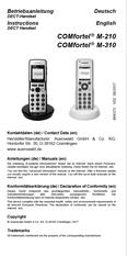 Titelbild Inbetriebnahmeanleitung Auerswald COMfortel M-210