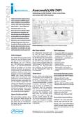Titelbild Prospekt: Auerswald LAN-TAPI für COMmander 6000RX