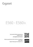 Titelbild Bedienungsanleitung Gigaset E560A