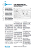 Titelbild Prospekt: Auerswald LAN-TAPI für COMpact 5000