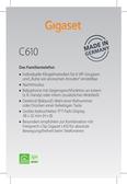 Titelbild Messekärtchen: Gigaset C610