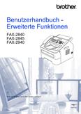 Titelbild Zusatzfunktionen Brother FAX-2840