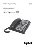 Titelbild Bedienungsanleitung: Tiptel Ergophone 1200