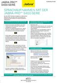 Titelbild Kurzanleitung-Sprachaufnahmen: Jabra PRO 9460 Mono