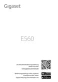 Titelbild Bedienungsanleitung Gigaset E560