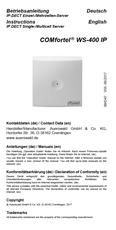 Titelbild Inbetriebnahmeanleitung Auerswald COMfortel WS-400 IP